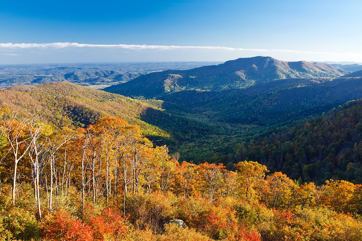 Great Smoky Mountains National Park from above